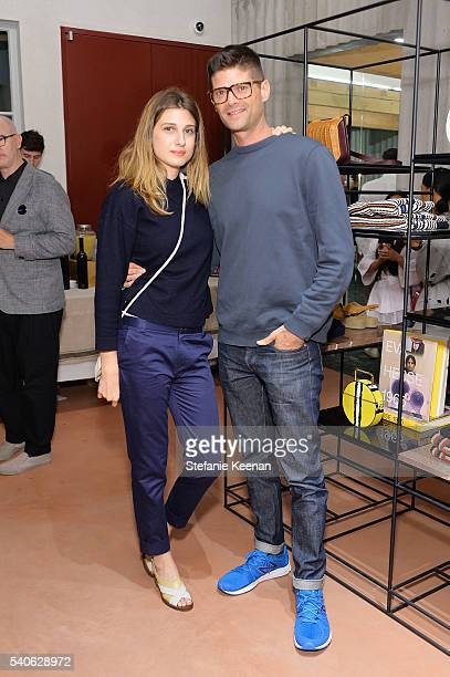 Emily Arlook and Will McCormack attend Rachel Comey Los Angeles Store Opening on June 15 2016 in Los Angeles California