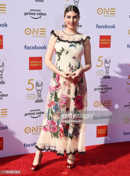Emily Arlook arrives at the 50th NAACP Image Awards at Dolby Theatre on March 30 2019 in Hollywood California