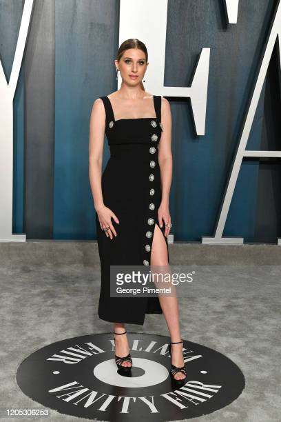 Emily Arlook attends the 2020 Vanity Fair Oscar party hosted by Radhika Jones at Wallis Annenberg Center for the Performing Arts on February 09, 2020...