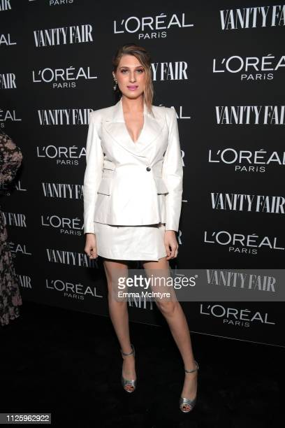 Emily Arlook is seen as Vanity Fair and L'Oréal Paris Celebrate New Hollywood on February 19 2019 in Los Angeles California