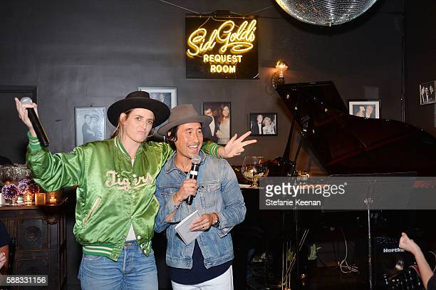 Emily Armstrong and Johnathan Crocker attend Glamour and AG Denim Music Dinner in support of MusiCares hosted by Jessica Kantor Johnathan Crocker...