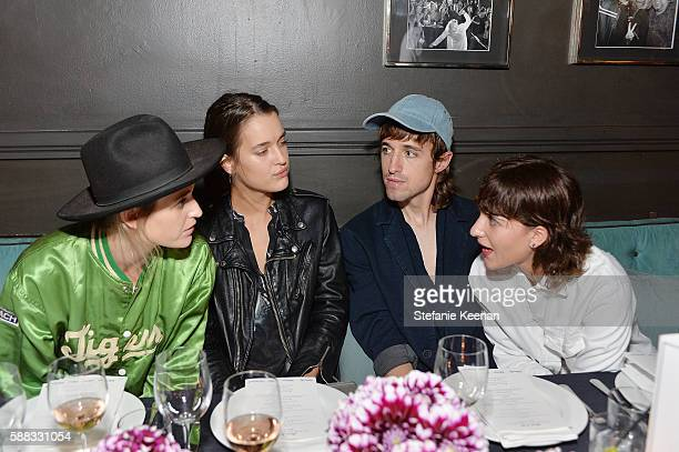 Emily Armstrong Kate Harrison Louie Diller and Liz Nistico attend Glamour and AG Denim Music Dinner in support of MusiCares hosted by Jessica Kantor...