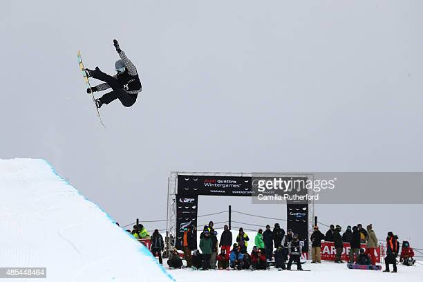 Emily Arthur of Australia competes in the FIS Snowboard World Cup Halfpipe Qualification during the Winter Games NZ at Cardrona Alpine Resort on...
