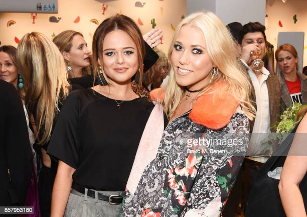 Emily Atack and Amelia Lily attend the launch of the new Lady Garden limited edition tshirts designed by Naomi Campbell Cara Delevingne Poppy...