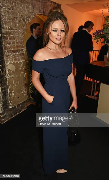 Emily Atack attends an after party celebrating the World Premiere of 'The End Of Longing' written by and starring Matthew Perry on February 11 2016...