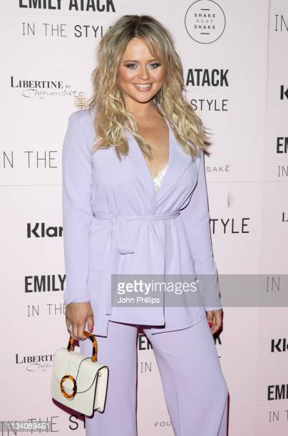 Emily Atack attends as Emily Atack launches her new collection for 'In The Style' at Libertine on March 06 2019 in London England