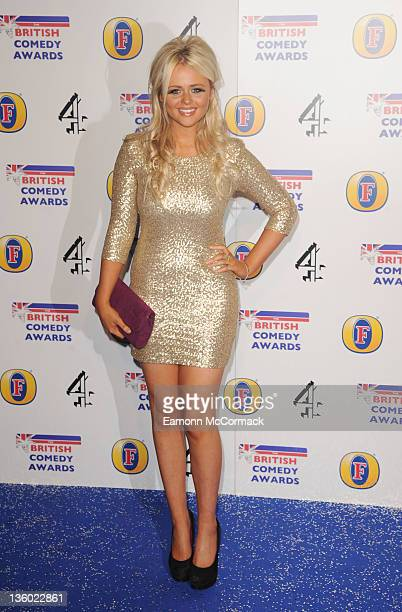 Emily Atack attends British Comedy Awards at Fountain Studios on December 16 2011 in London England