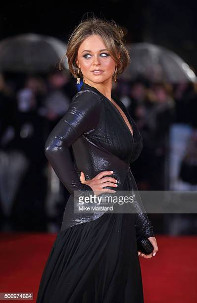 Emily Atack attends 'Dad's Army' World Premiere on January 26 2016 in London United Kingdom