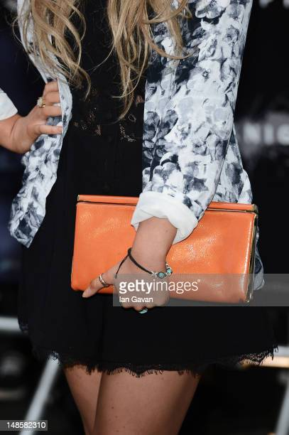 Emily Atack attends European premiere of The Dark Knight Rises at Odeon Leicester Square on July 18 2012 in London England