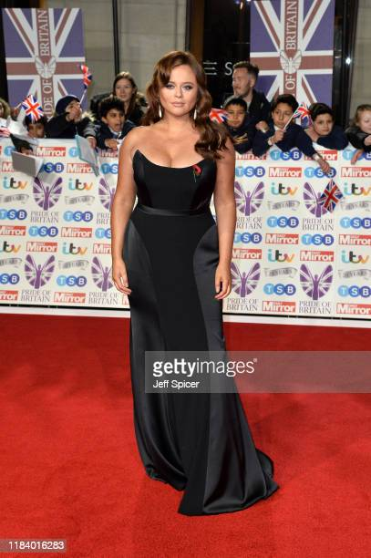 Emily Atack attends Pride Of Britain Awards 2019 at The Grosvenor House Hotel on October 28 2019 in London England