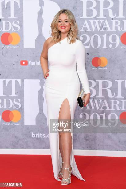 Emily Atack attends The BRIT Awards 2019 held at The O2 Arena on February 20 2019 in London England