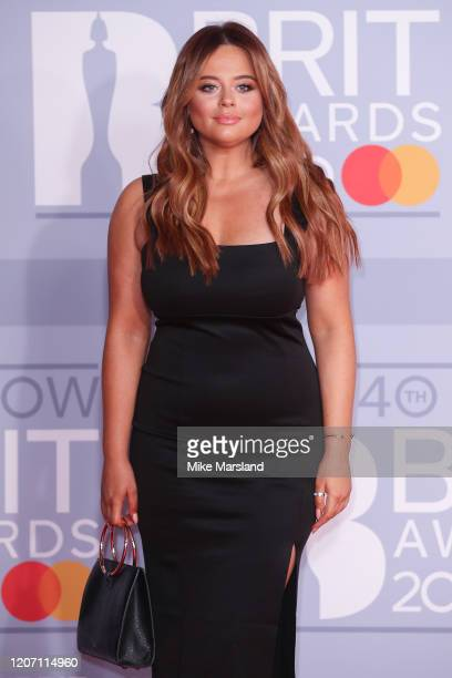 Emily Atack attends The BRIT Awards 2020 at The O2 Arena on February 18 2020 in London England