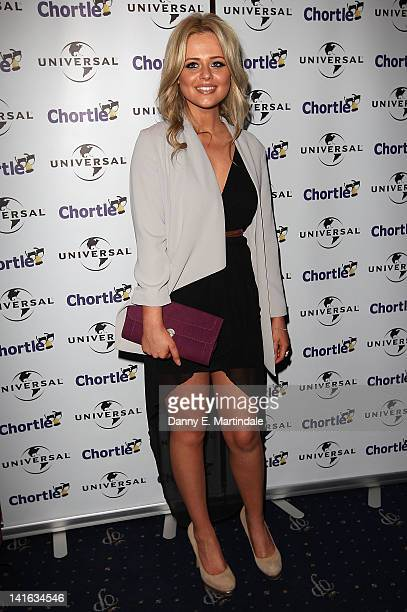 Emily Atack attends the Chortle Awards at Cafe de Paris on March 20 2012 in London England