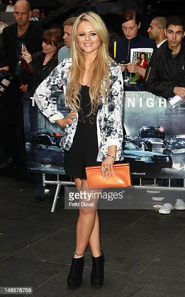 Emily Atack attends the European premiere of 'The Dark Knight Rises' at Odeon Leicester Square on July 18 2012 in London England