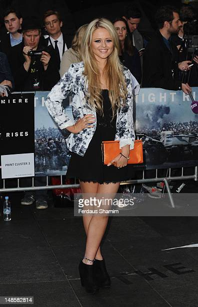 Emily Atack attends the European premiere of The Dark Knight Rises at Odeon Leicester Square on July 18 2012 in London England