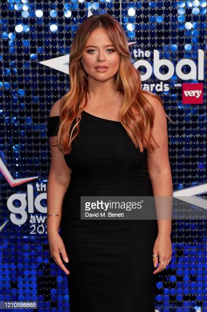 Emily Atack attends The Global Awards 2020 at the Eventim Apollo Hammersmith on March 05 2020 in London England