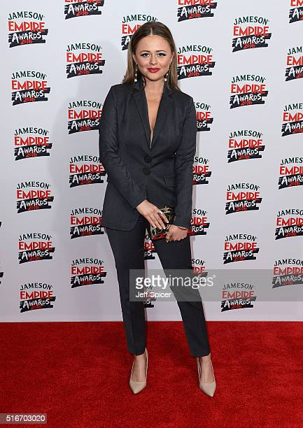 Emily Atack attends the Jameson Empire Awards 2016 at The Grosvenor House Hotel on March 20 2016 in London England