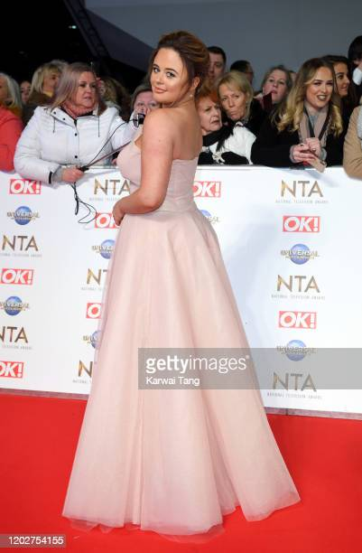Emily Atack attends the National Television Awards 2020 at The O2 Arena on January 28 2020 in London England