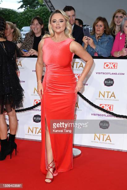 Emily Atack attends the National Television Awards 2021 at The O2 Arena on September 09, 2021 in London, England.