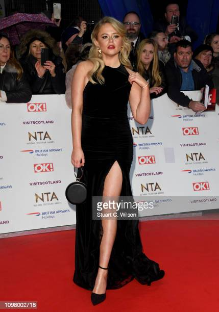 Emily Atack attends the National Television Awards held at the O2 Arena on January 22 2019 in London England