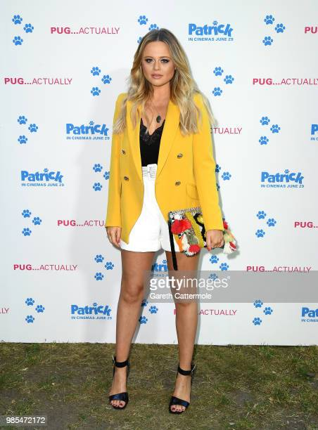 Emily Atack attends the Patrick UK premiere at an exclusive private London garden on June 27 2018 in London England