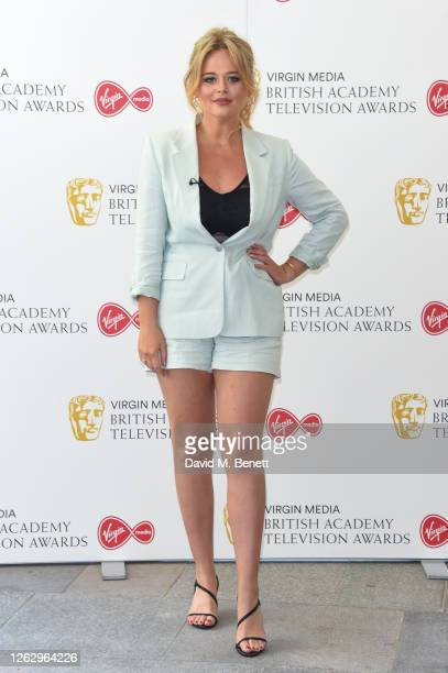 Emily Atack attends the Virgin Media British Academy Television Award 2020 at Television Centre on July 31 2020 in London England