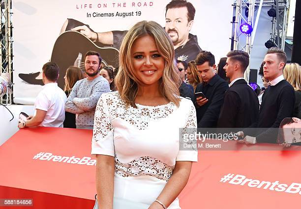 Emily Atack attends the World Premiere David Brent Life On The Road at Odeon Leicester Square on August 10 2016 in London England