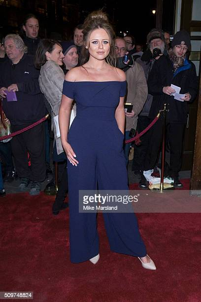 Emily Atack attends the World Premiere of 'End Of Longing' written by and starring Matthew Perry at Playhouse Theatre on February 11 2016 in London...