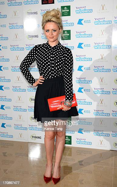 Emily Atack attends the Yahoo Wireless preparty at The Mayfair Hotel on June 19 2013 in London England