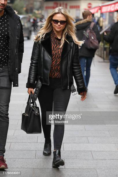 Emily Atack seen at the Global Radio Studios after presenting the Capital Breakfast show on February 13 2019 in London England