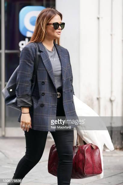 Emily Atack seen leaving Global Radio Studios on February 26 2020 in London England