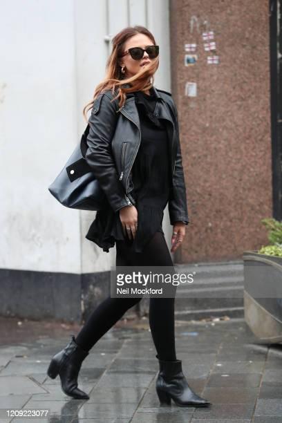 Emily Atack seen leaving Global Radio Studios on February 28 2020 in London England