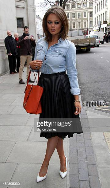 Emily Atack sighting on February 24 2015 in London England