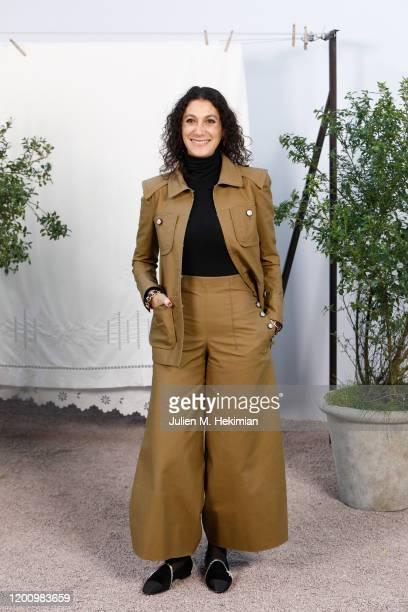 Emily Atef attends the Chanel Haute Couture Spring/Summer 2020 show as part of Paris Fashion Week at Grand Palais on January 21, 2020 in Paris,...