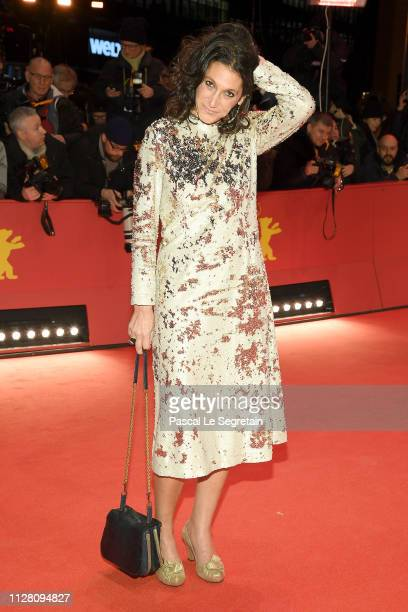 Emily Atef attends the The Kindness Of Strangers premiere during the 69th Berlinale International Film Festival Berlin at Berlinale Palace on...