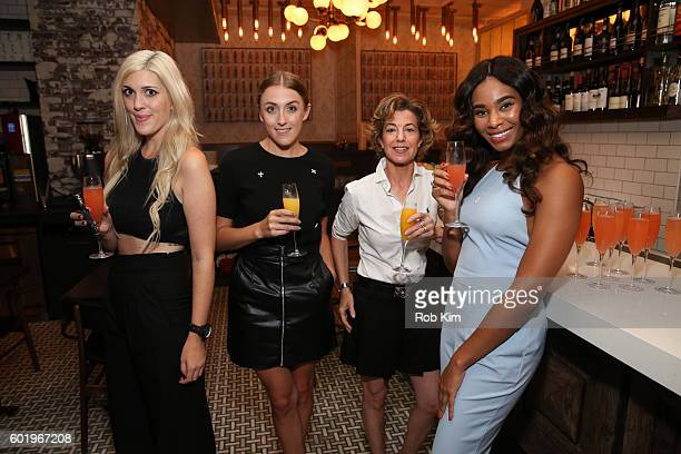 Emily Bach Abigail Breslin Alix Strauss and Tracey Edouard attend the New York Fashion Week Brunch with Kali Hawk and Natalie Zfat at Trademark...