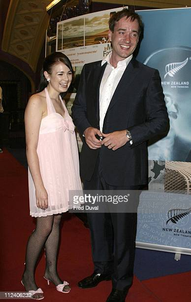 Emily Barclay and Matthew MacFadyen during In My Father's Den London Premiere Arrivals at UGC Haymarket in London United Kingdom