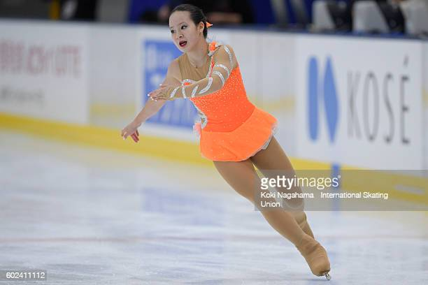 Emily Bausback of Canada competes in the junior women's free program during the ISU Junior Grand Prix of Figure Skating Yokohama on September 11 2016...