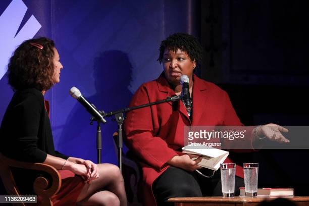 Emily Bazelon writer at The New York Times Magazine and former Georgia gubernatorial candidate Stacey Abrams participate in a conversation about...