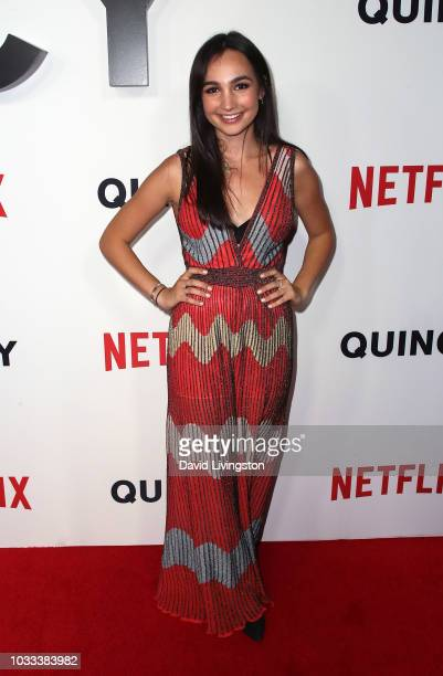 Emily Bear attends the premiere of Netflix's Quincy at Linwood Dunn Theater on September 14 2018 in Los Angeles California