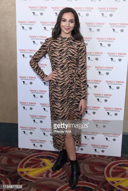 Emily Bear attends the red carpet premiere of Nancy Drew and the Hidden Staircase at AMC Century City 15 on March 10 2019 in Century City California...