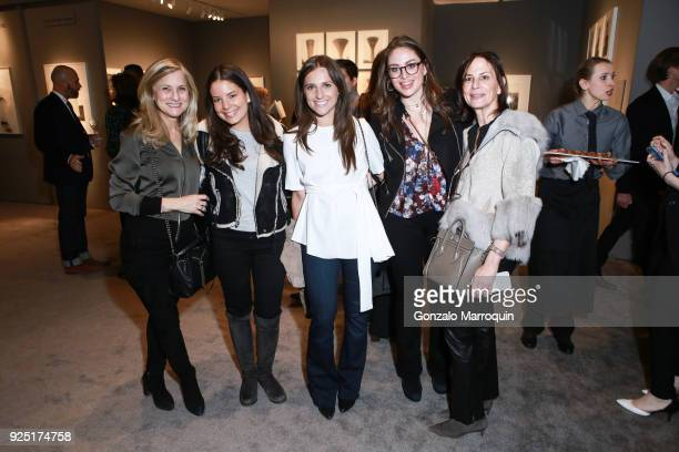Emily Bear Emily Chestler Meghan Miller Jessica Chestler and Ronda Chestler during the The Art Show Gala Preview at Park Avenue Armory on February 27...