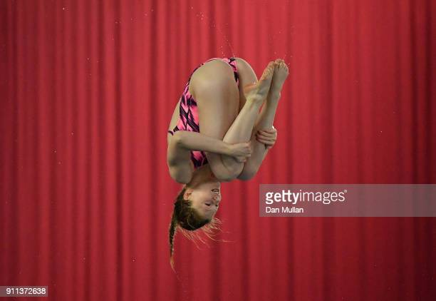 Emily Bearpark of City of Leeds Diving Club competes in the Womens 3m Springboard Final on day three of the British Diving Championships at the Life...