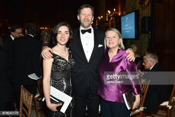 Emily Bedard Phillip Liederbach and Nancy Power attend 2017 ICAA Arthur Ross Awards at The University Club on May 1 2017 in New York City