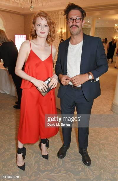 Emily Beecham and guest attend The South Bank Sky Arts Awards drinks reception at The Savoy Hotel on July 9 2017 in London England