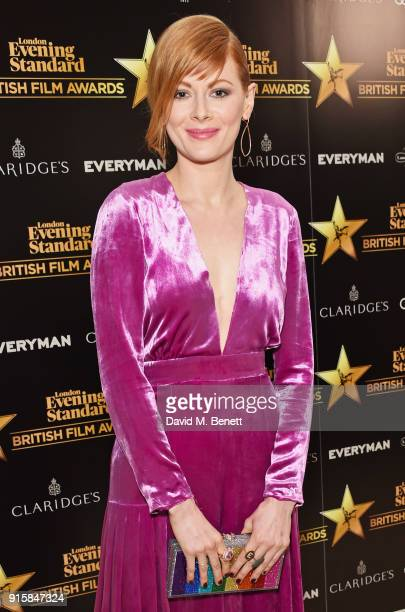 Emily Beecham arrives at the London Evening Standard British Film Awards 2018 at Claridge's Hotel on February 8 2018 in London England