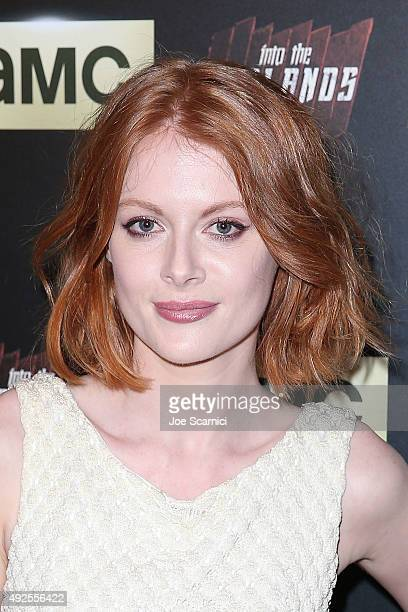 Emily Beecham arrives at the screening of AMC's 'Into The Badlands' at The London West Hollywood on October 13 2015 in West Hollywood California