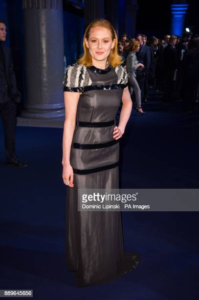 Emily Beecham arrives for The British Independent Film Awards at Old Billingsgate in London