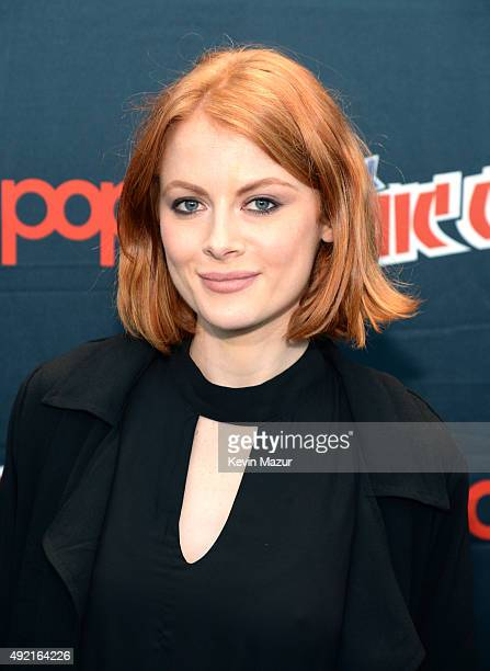 Emily Beecham attends AMC's 'Into the Badlands' panel at New York Comic Con at Jacob Javits Center on October 10 2015 in New York City
