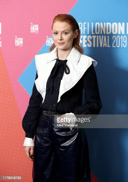 Emily Beecham attends Dare To Stand during the 63rd BFI London Film Festival at the BFI Southbank on October 04 2019 in London England